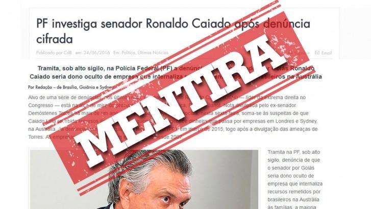 Polícia Federal e PGR afirmam que denúncia de site contra Caiado é mentirosa1