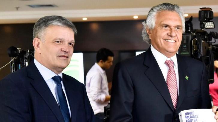 Governador Ronaldo Caiado e controlador-geral Henrique Ziller (2)